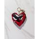 Reversible Sequin Heart Keychain