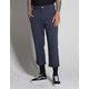 RSQ Straight Cropped Washed Navy Mens Chino Pants