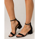 CITY CLASSIFIED Microsuede Womens Heeled Sandals
