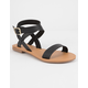 CITY CLASSIFIED Basic Ankle Wrap Womens Sandal