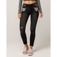 VANILLA STAR Floral Embroidery Womens Ripped Skinny Jeans