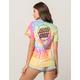 SANTA CRUZ Tie Dye Rainbow Womens Tee