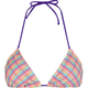 FULL TILT Rainbow Plaid Womens Swimsuit Top