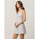 IVY & MAIN Stripe Button Front Dress