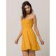 GYPSIES & MOONDUST Floral Smocked Tube Top Dress