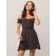 GYPSIES & MOONDUST Smocked Black Off The Shoulder Dress