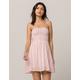 GYPSIES & MOONDUST Stripe Smocked Tube Top Dress