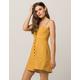 SOCIALITE Linen Button Front Mustard Dress