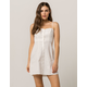 SOCIALITE Linen Button Front White Dress