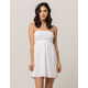 SOCIALITE Tie Back White Womens Dress