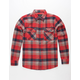 BRIXTON Bowery Red Mens Flannel Shirt