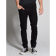 RSQ Seattle Moto Black Mens Skinny Taper Jeans