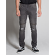 RSQ Seattle Moto Zip Mens Skinny Tapered Ripped Jeans