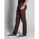 RSQ London Brown Mens Skinny Stretch Chino Pants
