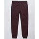 BROOKLYN CLOTH Streaky Slub Burgundy Mens Jogger Pants