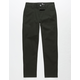 RSQ London Dark Olive Boys Skinny Chino Pants
