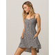 SOCIALITE Button Front Ditsy Dress