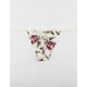FULL TILT Floral Lace White Thong