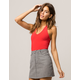 BOZZOLO Crop Red Womens Halter Top