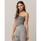 BOZZOLO Heather Grey Womens Tube Top