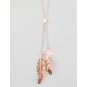 FULL TILT Feather Long Necklace