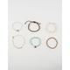 FULL TILT 6 Pack Braid & Marble Bracelet Set