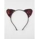 FULL TILT Pink Sequin Cat Ears Headband