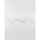 FULL TILT 3 Pairs Pretty Silver Hoop Earrings