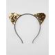 FULL TILT Gold Sequin Cat Ears Headband