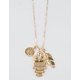 FULL TILT Owl & Feather Charm Necklace