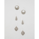 FULL TILT 3 Pairs Crystal Drop Earrings