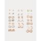 FULL TILT 20 Pairs Feather & Elephant Stud Earrings