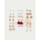 FULL TILT 20 Pairs Anchor Earrings