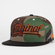 KR3W Original Camo Mens Snapback Hat