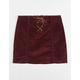 CELEBRITY PINK Lace Up Girls Corduroy Skirt