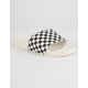 VANS Checkered Black & White Womens Slide Sandals