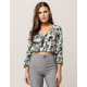 SKY AND SPARROW Floral Tie Front Women Crop Top