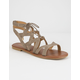 CITY CLASSIFIED Strappy Ghillie Taupe Womens Sandals