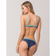 DAMSEL Blue Side Straps Cheeky Bikini Bottoms