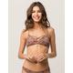 FULL TILT Crisscross Floral Bralette Bikini Top