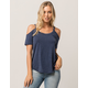 OTHERS FOLLOW Womens Cold Shoulder Top