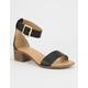 CITY CLASSIFIED Simple Strap Womens Black Heeled Sandal