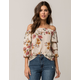 SOCIALITE Ruched Womens Off The Shoulder Top