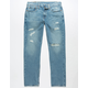 LEVI'S 502 Regular Taper Fit Mens Ripped Jeans