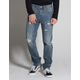RSQ London Mens Skinny Stretch Ripped Jeans