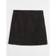 WHITE FAWN Black Stretch Girls Twill Skirt