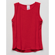 DESTINED Ribbed Red Girls Tank Top