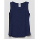DESTINED Ribbed Navy Girls Tank Top