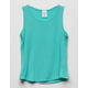 DESTINED Ribbed Mint Girls Tank Top