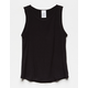 DESTINED Ribbed Black Girls Tank Top